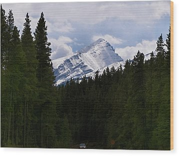 Peaking Peak Wood Print by Roderick Bley