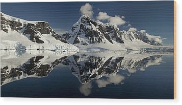 Peaks Along  Neumayer Channel Wood Print by Colin Monteath