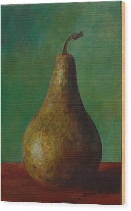 Pear I Wood Print by Gonca Yengin
