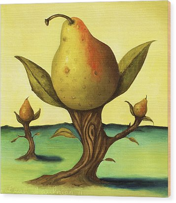 Pear Trees 2 Wood Print by Leah Saulnier The Painting Maniac