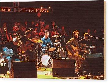 Pearl Jam Bridge Benefit Wood Print by Stephen Miner