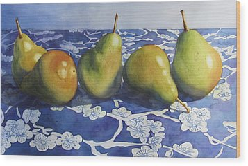 Pears Wood Print by Daydre Hamilton