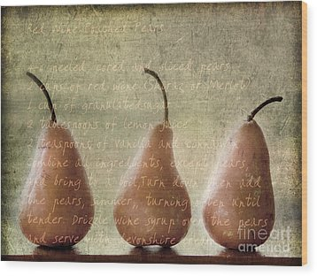 Pears To Be Wood Print by Linde Townsend