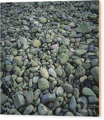Pebbles Wood Print by Bernard Jaubert