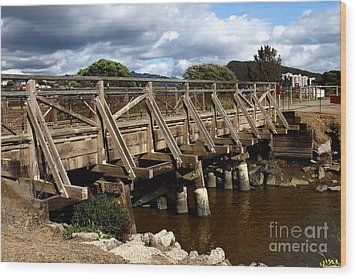 Pedestrian Bridge At Point Isabel In Richmond California . 7d15083 Wood Print by Wingsdomain Art and Photography