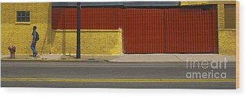 Pedestrian Wood Print by Jim Wright