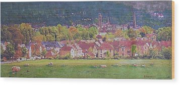 Wood Print featuring the painting Peebles Vista by Richard James Digance
