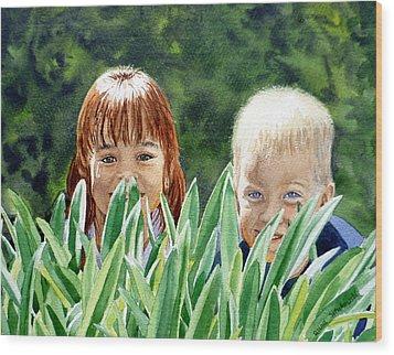 Peekaboo Wood Print by Irina Sztukowski