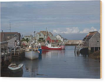 Peggy's Cove Wood Print by Nick Sayles