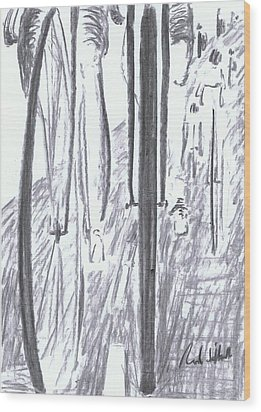Pelaton Wood Print by Rod De Hoedt