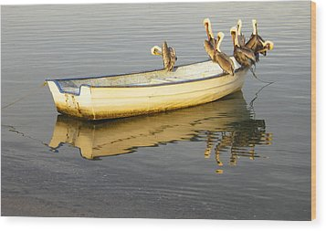 Pelican Express Wood Print