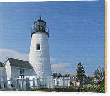 Wood Print featuring the photograph Pemaquid Lighthouse by Jeanne  Woods
