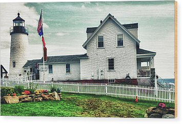 Wood Print featuring the photograph Pemaquid Lighthouse by Kelly Reber