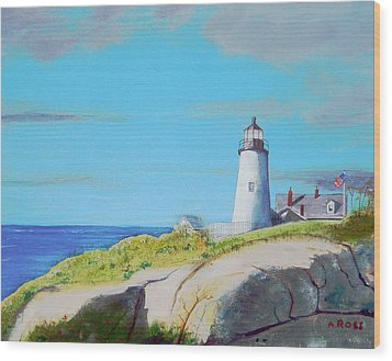Pemaquid Point Light Wood Print