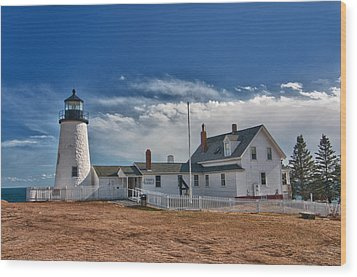 Pemaquid Point Lighthouse 4800 Wood Print by Guy Whiteley