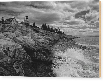 Pemaquid Point Lighthouse Wood Print by Keith Kapple