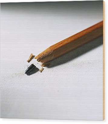 Pencil Wood Print by Kevin Curtis