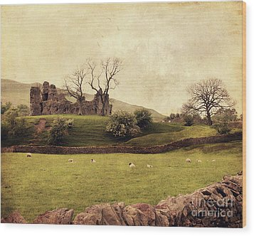 Pendragon Castle Wood Print by Linde Townsend