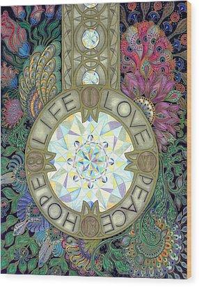 Pendulum Wood Print by Ellie Perla