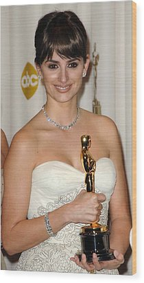 Penelope Cruz, Best Supporting Actress Wood Print by Everett