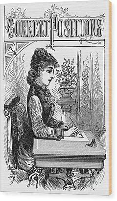 Penmanship Manual, C1880 Wood Print by Granger
