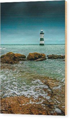Penmon Point Wood Print by Adrian Evans
