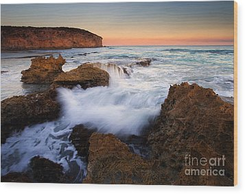 Pennington Pastel Sunset Wood Print by Mike  Dawson