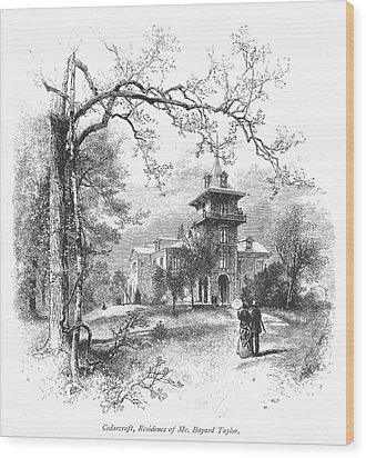 Pennsylvania: Mansion Wood Print by Granger
