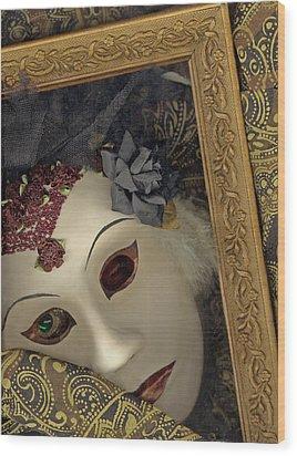 Wood Print featuring the mixed media Pensive by Nareeta Martin