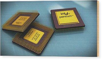 Pentium Is Still Awesome Wood Print by Rimantas Vaiciulis