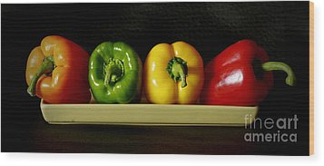 Pepper Delight Wood Print by Inspired Nature Photography Fine Art Photography