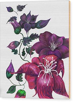 Wood Print featuring the digital art Perception by Yolanda Raker