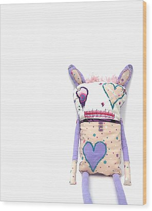 Percry Of The Cutie Patootie Zombie Bunny Twins Wood Print by Oddball Art Co by Lizzy Love
