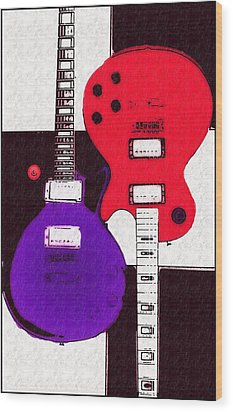 Perfect Fit -   Les Paul Wood Print by Bill Cannon