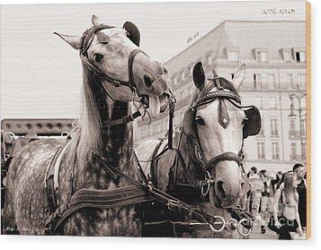 Performing Horses Wood Print by Helge Peters