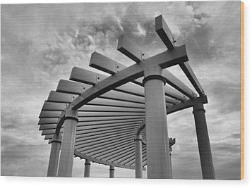 Wood Print featuring the photograph Pergola by Brian Hughes