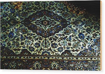 Persian Rug Wood Print by Unique Consignment