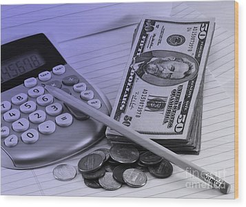 Personal Finance Wood Print by Blink Images