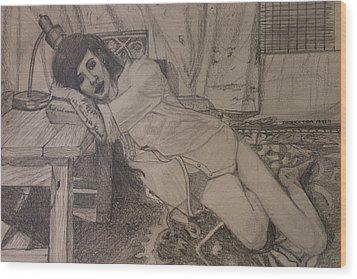 Persuading Wood Print by Shadrach Ensor