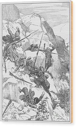 Peru: Battle Of Ayacucho Wood Print by Granger