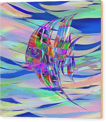 Pescado Aqui Wood Print by Wally Boggus