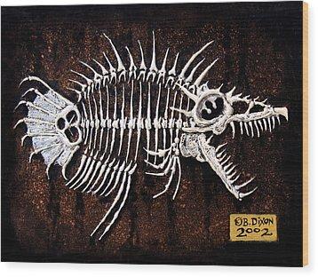 Pescado Dos Wood Print by Baron Dixon
