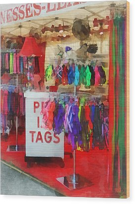 Pet Leashes And Harnesses For Sale Wood Print by Susan Savad