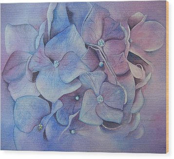 Wood Print featuring the painting Petals by Patsy Sharpe