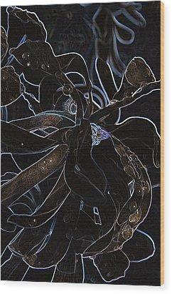 Petals To Pass Wood Print by Travis Crockart