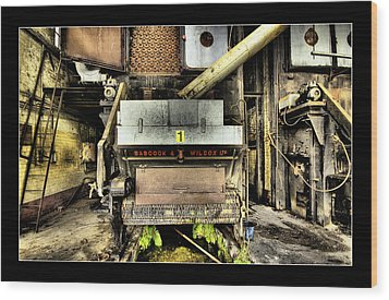 Wood Print featuring the digital art Peters Factory 02 by Kevin Chippindall
