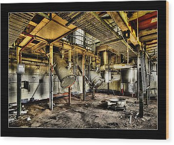 Wood Print featuring the digital art Peters Factory 03 by Kevin Chippindall