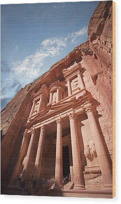 Petra, Jordan Wood Print by Michael Holst Images