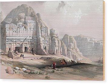 Petra  Wood Print by Munir Alawi