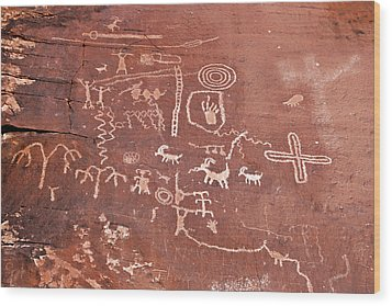 Petroglyph Canyon - Valley Of Fire Wood Print by Christine Till